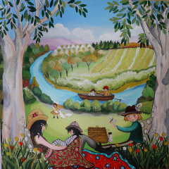 Holiday-Picnic-with-Mum-Lizzy-Newcomb-Landscape-Art